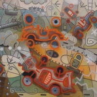 ' Three Abstract Cars '